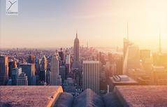 New York (Yannick Charifou Photography ©) Tags: usa lumière light flare angle wide d700 nikon lens nikkor afs1424mm28g goldenhour golden goldhour gold orange blue travel voyage newyork nikond700