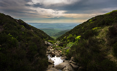 one way down (Phil-Gregory) Tags: nikon d7200 tokina 1120mmproatx 11 1120mm 120proatx 1120mmf28 kinderscout peakdistrict naturalphotography national naturalworld nature natural nationalpark wideangle ultrawide wide clough mountain water light pool rocks sky clouds colour color landscape scenicsnotjustlandscapes
