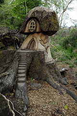 The wee hoose (Lucky Poet) Tags: balloch scotland carved carving house miniature stump tree