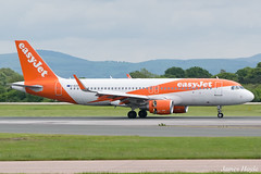 easyJet G-EZOY A320 at Manchester Airport 19-05-17 (JH Aviation and Railway Photography) Tags: egcc easyjetairline airport airliner aircraft aviation airways airlines airbus a320 aviationviewingpark manchesterairport