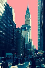 a salmon sky (Towner Images) Tags: ny nyc us usa towner manhattan urban city america townerimages chrysler sabrett streetvendor street streetfood streetcart salmon