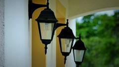 Lampy (andrzejskałuba) Tags: polska poland panasonic lumix fz200 pieszyce dolnyśląsk silesia sudety europe lampy lamps oświetlenie zieleń dom house