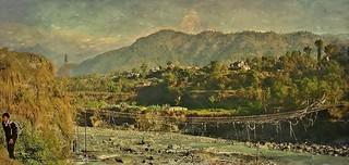 NEPAL, Rund um Pokhara, Brücke im Phewa-Tal, 16231/8531
