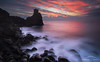 Flaming dawn (Marco Calandra Photography) Tags: gnd castle clouds dawn longexposure red santatecla sea tower acireale sicilia italia it nisifilters morning redclouds sicily coast water ocean