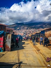 Pretty busy getitng into Huamachuco, Peru.