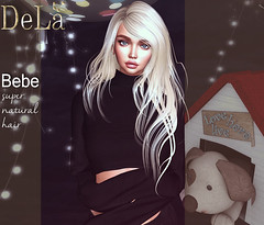 """=DeLa*= new hair """"Bebe"""" (=DeLa*=) Tags: dela hair fitted rigged mesh materials secondlife secondlifefashion sl slhair style new uber"""