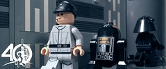 6. Death Star Crew (kyle.jannin) Tags: lego legostarwars star wars a new hope deathstar hallway imperial troopers crew droid officer gunner empire anniversary 40 celebration episode iv
