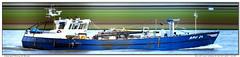 Bru 24 Leen Willem (Morthole) Tags: slitscan ship boat schip boot barge binnenvaart schiff rheinschiff bru24leenwillem fishingship fishingboat vissersboot fischerboot bateaudepeche