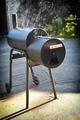 Schmokin' (amfawcett) Tags: bbq barbeque smoker facesinthings shocked