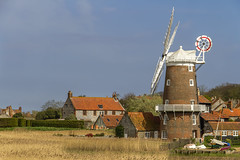 Cley Windmill (Kev Gregory (General)) Tags: cley windmill grade ii listed tower mill next sea norfolk england which has been converted residential accommodation built early 19th century ownership farthing family dorothy miller stephen barnabas burroughes holt inherited by lieutenant colonel hubert blount county council pilgrim trust son charles father singer james blunt child cap gallery sails fantail renewed english heritage millwrights john lawn bond