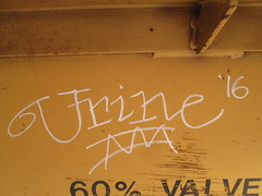 Urine (Railroad Rat) Tags: northern ontario wilderness benching canada freight train railroad railway graffiti moniker markal b paintstik all colors beautiful hobo culture hopping