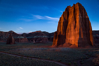 Temple of the Sun by the Light of the Flower Moon, Capitol Reef National Park