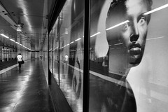 Napoli metro outlook (gerhardkörsgen) Tags: metro subway ubahn menschen people perspective photographed person face tunnel streetphotography scene schwarzweiss monochrome melancholy blackwhite italy travel atmosphere artphotography candid city decisivemoment everyday frau gerhardkoersgen grafic life look outdoor reflektion urban woman