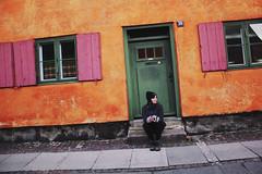 IMG_0499 (-whataboutparis-) Tags: self portrait selfportrait orange door house