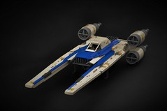 U-Wing (1) (Inthert) Tags: ut60d u wing starfighter ship craft rebel alliance rogue one star wars income corporation troop lego moc blue squadron