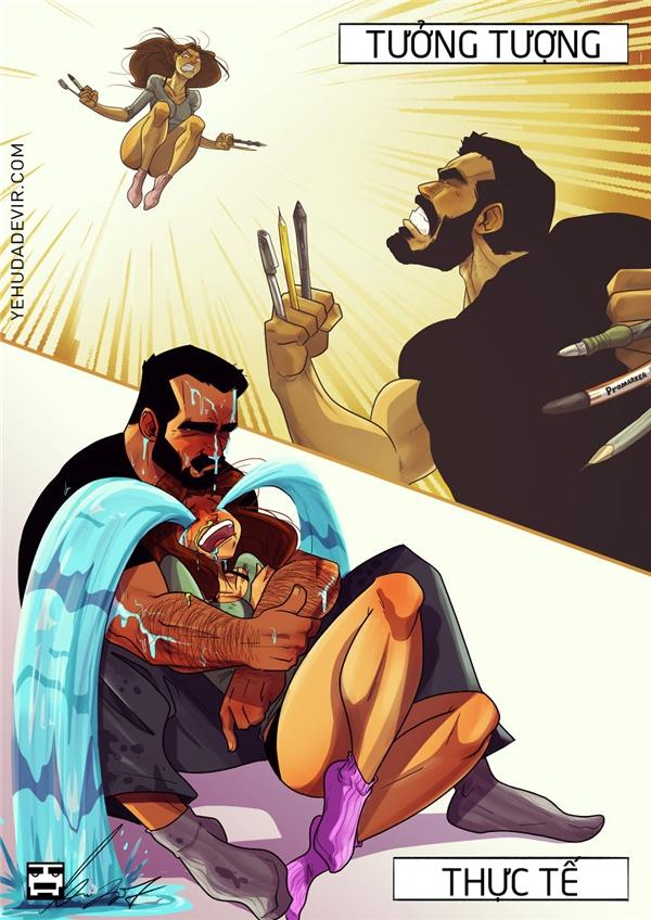 Thấy vợ mạnh mẽ thế, rủ đi xem Logan, ai ngờ... Lỗi tại Logan!