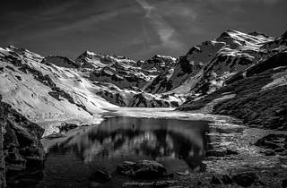 Lac de la Sérénité Sauvage (N/B)