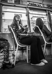 Tramspotting (Henka69) Tags: street streetphoto tram publictransportation streetcar commuter monochrome bw