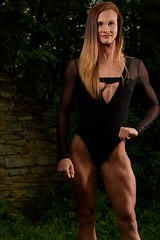 Maddie C. (rubenb.hardwick) Tags: fitness pro muscular muscles lean rippe ripped woman leaned cut mas mass smile tall strong black white rocks stone strobe blonde red body suit bikini physique figure nikon d810 sigma 85mm 14 art quarry hill minnesota