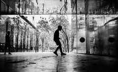 Multiple worlds play together (Frank Busch) Tags: frankbusch frankbuschphotography imagebyfrankbusch photobyfrankbusch bw barcelona blackwhite blackandwhite boys city football monochrome refelction soccer spain streetphotography trees wwwfrankbuschname