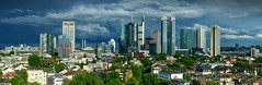 Skyline Frankfurt, after the Storm (Frawolf77) Tags: panorama frankfurt skyline thunderstorm light beautiful highrises cityscape weather afternoon storm europe germany financial capital