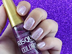 Combinado gracinha (Des Manhães) Tags: nails polish unhas esmaltes nude impala roxo purple glitter risqué colorama