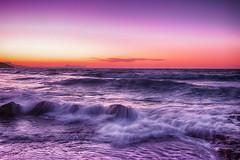 ... (Theophilos) Tags: sunset sea sky waves rocks ηλιοβασίλεμα θάλασσα ουρανόσ κύματα βράχια