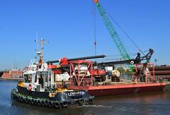 Haven Supporter + Haven Seariser 2 (1) @ KGV Lock 26-05-17 (AJBC_1) Tags: royaldocks london havensupporter dlrblog ©ajc newham kinggeorgevlock northwoolwich londonsroyaldocks londonboroughofnewham eastlondon docklands england unitedkingdom uk ship boat vessel marineengineering nikond3200 tug tugboat collinswateragelighterage gallionspoint pontoon stantug1205 damen damenshipyardsgroup red7marine havenseariser2 ajbc1 barge delmagdrillingrig abiequipmentlimited delmagrh34