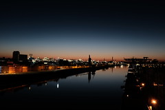 Hafen Mannheim (matthiasczekalla) Tags: night x100 x100f fuji velvia classic chrome 35mm