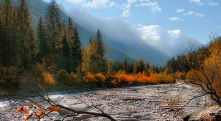 Marée basse en vallée de Chamonix-Mont_Blanc