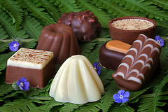 Chocolate (andycurrey2) Tags: smileonsaturday chocolate treats confection food stilllife flowers ferns green blue brown