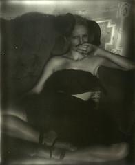 Black (Caroline Bonarde Ucci) Tags: polaroid polaroidspectra impossibleprojectfilm impossibleproject instantfilm art portrait erotic erotica intimate intimatewear lingerie handmadelingerie designer model filmphotography