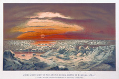 Arctic Midnight Sun (sjrankin) Tags: 28may2017 edited library britishlibrary illustration book historic beringsea midnightsun ice arcticocean beringstrait