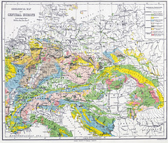 Central European Geology (sjrankin) Tags: 28may2017 edited library britishlibrary illustration book historic map geography centraleurope geology