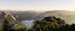 Good place to sleep (Fratercula arctica) Tags: gmunden oberösterreich österreich at alps goldenlight panorama hiking klettersteig naturfreundehaus naturfreundesteig traunstein traunsee