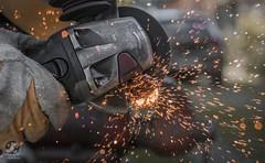 Flexing (David Fóti) Tags: cut flex flexing metal metalbar work housework village home house rusty spark sparkle sony a6500 carl zeiss jena 50mm
