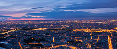 Blue hour - Paris - by Montparnasse Tower. (valecomte20) Tags: nikon d5500 horizon crépuscule ciel sky bluehour paris tourmontparnasse montparnassetower