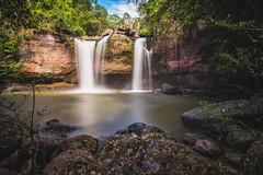 (Flutechill) Tags: nature cliff waterfall rock trees nationalpark khaoyainationalpark thailand exploration longexposure landscape huaw suwat