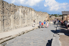 Street AT Pompeii (meg21210) Tags: ruin pompeii naples italia italy roman tourists visitors sunlight harsh walls street campania cosmos tour fall2016 stone structures ancient sky clouds