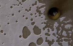 A South Polar Pit or an Impact Crater? (NASA's Marshall Space Flight Center) Tags: nasa nasas marshall space flight center jpl jet propulsion laboratory solar system beyond mars reconnaissance orbiter mro planet