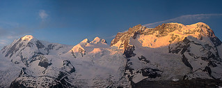 From Breithorn to Lyskam at Sunrise