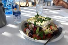 Village Salad with Ouzo (RobW_) Tags: village salad ouzo ankyra taverna monodendri achaia peloponnese greece thursday 27apr2017 april 2017