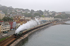 60163 Tornado thunders down the sea wall (in explore) (Andrew Edkins) Tags: lner overcast may 2017 summer people steamtrain travel trip geotagged canon railwayphotography uksteam mainlinesteam thecornishman england devon dawlish peppercorn a1class tornado 60163 explore