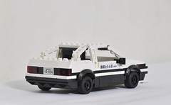 Toyota AE86 of Initial D (KMP MOCs) Tags: lego toyota initiald moc anime trueno ae86 minifig car vehicle toy toys racing gt coupe corolla cars projectd drift downhill takumi fujiwara sportscar sprinter