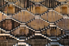 stepwell magic (flovision.net) Tags: asia d800 india jaipur nikon rajasthan wwwflovisionnet pannameenakakund stepwell historic architecture escher stairs graphic abstract