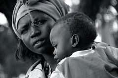 shilluk tribe, south sudan (eva.pave) Tags: women lady girl mother baby afrika monochrome bw blackandwhite