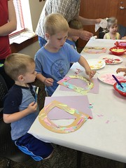 Do you love donuts?  So do we!  Children at the Grabill branch enjoyed an especially sweet storytime featuring everyone's favorite food. (ACPL) Tags: fortwaynein acpl allencountypubliclibrary grb grabill doughnut donut party storytime slp summer learning program 2017 children
