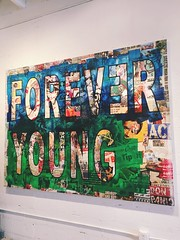 Do you want to live forever? (santoscinderella) Tags: happy adventures goodday iphone buy decor walls florida wynwood miami gallery expensive colors live forever young art