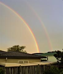 Double Rainbow! (julztakesphotos) Tags: rainbow sky doublerainbow hawkesbay northisland newzealand nz