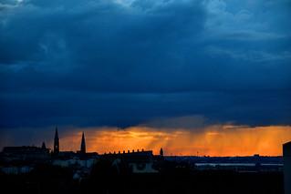 Sunset Rain Squall
